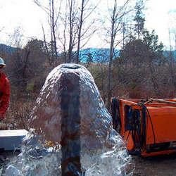 Empresa de limpeza de poço artesiano com compressor