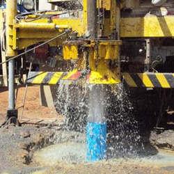 Perfuração de poço de água