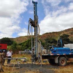 Construção de poços de água
